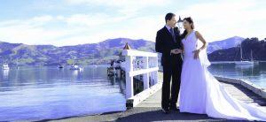 Akaroa wedding by the water