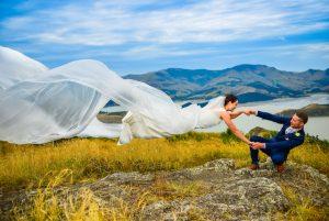 Bride Flying in Christchurch