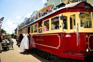 Wedding on Christchurch tram