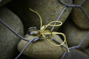 Wedding ring close up