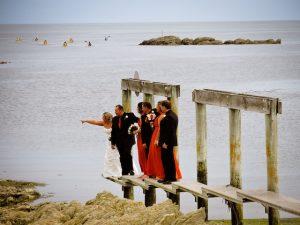 Wedding by the sea in Kaikoura