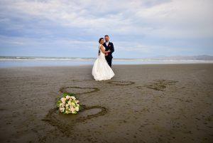 Wedding on Christchurch beach