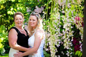 brides in the garden