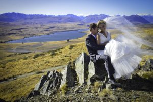 Wedding on a hill
