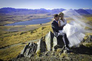 Wedding on a hill