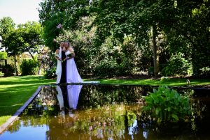 serene wedding day by the water