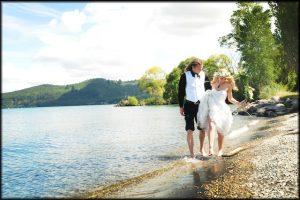 Walking by Taupo lake