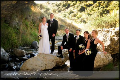 wedding at Cave Stream