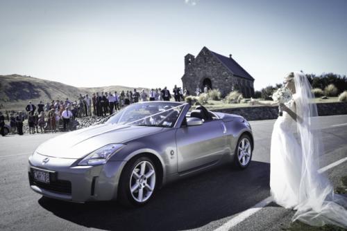 Wedding drive by