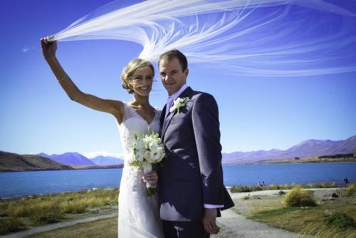 wedding veil fly by