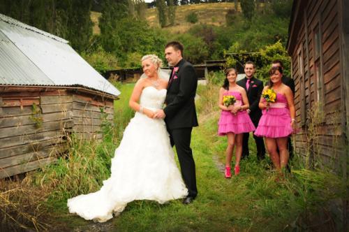 wedding in a farmyard