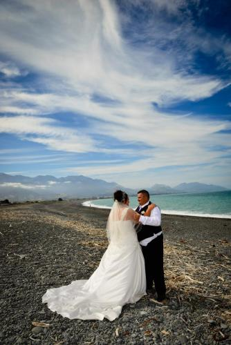Kaikoura Wedding on the beach