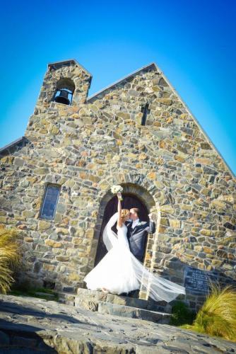 Tekapo wedding by chapel